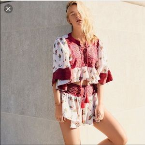 FREE PEOPLE Kissed by the sun two piece set